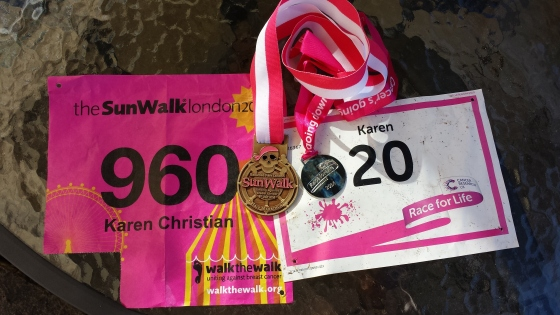 Half marathon and 5km medals - one crazy weekend in July